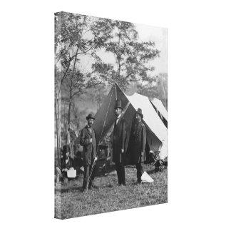 Abe Lincoln y campo de batalla Antietam de A. Pink Impresiones En Lona Estiradas