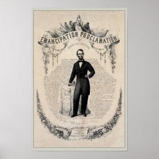 Abe Lincoln y la proclamación de la emancipación Poster