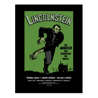 Abe Lincolnstein Abraham Lincoln Frankenstein Tarjeta Postal