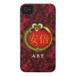 Abe Monogram Dragon iPhone 4 Cases