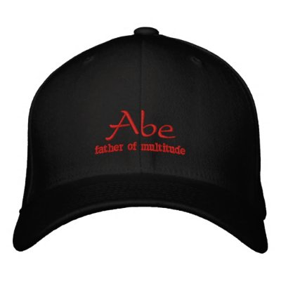 Abe Name Cap / Hat Embroidered Baseball Caps
