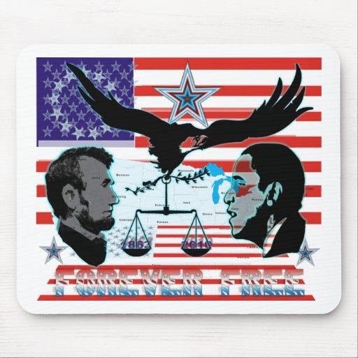 Abe-Obama-Forever-free-set-1AB Mouse Pad