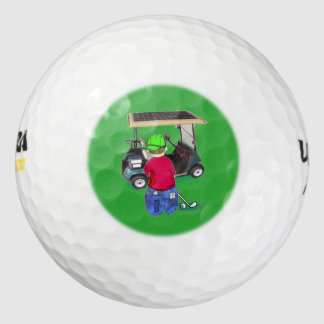 Abe R. Doodle es Puttin a la ronda Pack De Pelotas De Golf