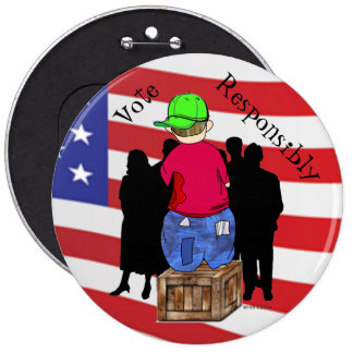 Abe R Doodle - Vote Responsibly Pinback Button