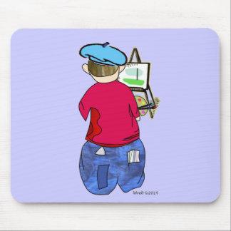 Abe R Doodle - Zee Artiste Mouse Pad