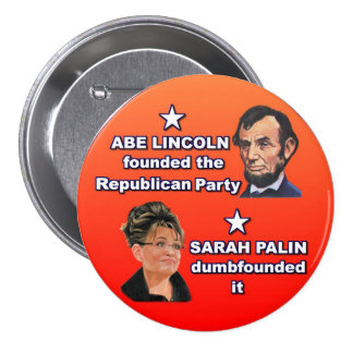 Abe y Sarah Pin Redondo De 3 Pulgadas