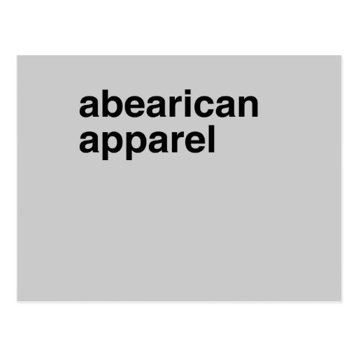 Abearican Apparel Post Card