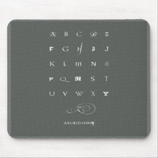 Abecedarium: mousepad, grey mouse pad