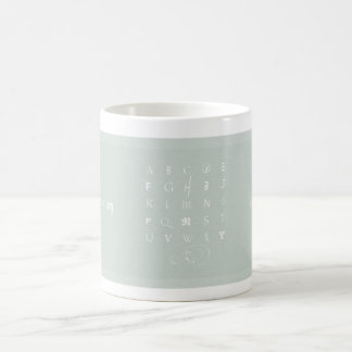 Abecedarium:  Mug, celadon Coffee Mug