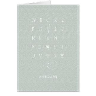 Abecedarium: Notecard, Celadon Green Card