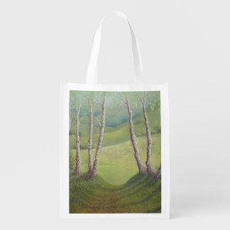 Abedules en bolso reutilizable del brezo de Walton Bolsa Para La Compra