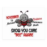 Abeja 1,1 del mes de la conciencia de la diabetes postal