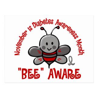 Abeja 1,2 del mes de la conciencia de la diabetes postal