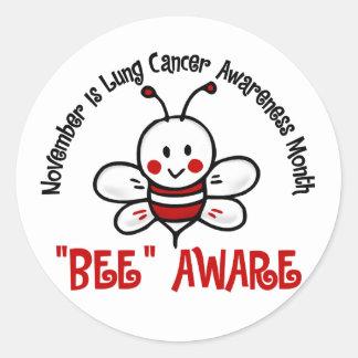 Abeja 1,2 del mes de la conciencia del cáncer de etiquetas redondas