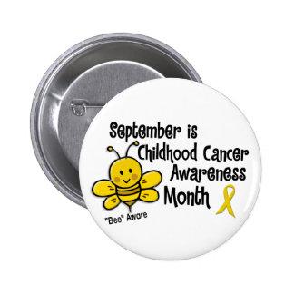 Abeja 1,3 del mes de la conciencia del cáncer de l pin redondo 5 cm