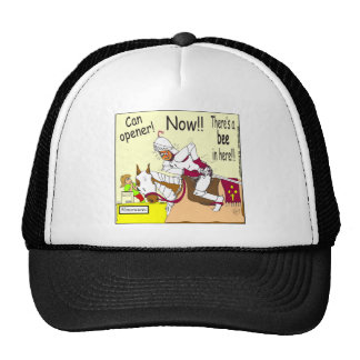 abeja 341 en aquí dibujo animado gorra