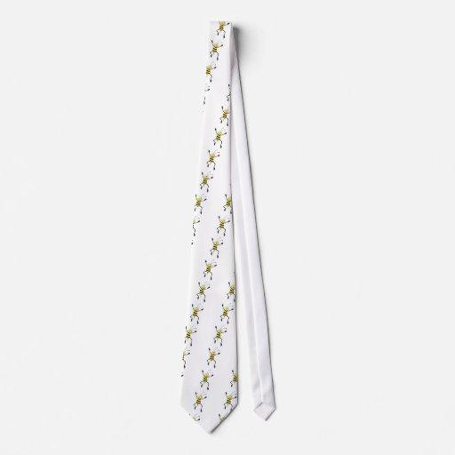 Abeja alegre corbatas personalizadas