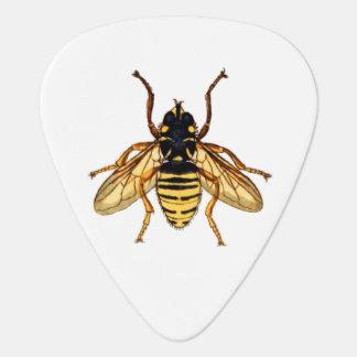 Abeja amarilla de la miel del vintage púa de guitarra