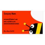 Abeja amarilla tarjetas de visita