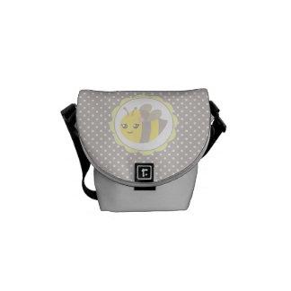 Abeja amarilla y gris del bebé bolsas de mensajería