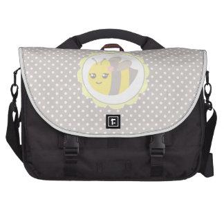 Abeja amarilla y gris del bebé bolsas para portátil