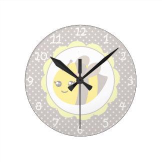 Abeja amarilla y gris del bebé relojes