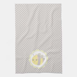 Abeja amarilla y gris del bebé toallas