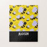 Abeja amarilla y negra linda puzzles