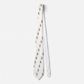 Abeja amistosa feliz que dice hola a usted corbata