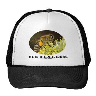 Abeja audaz (abeja en la flor amarilla) gorro de camionero