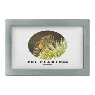 Abeja audaz (abeja en la flor amarilla) hebillas cinturón rectangulares