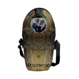 Abeja azul por la pequeña bolsa de mensajero del bolsa messenger