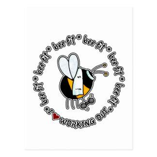 abeja cabida - elaboración de la postal