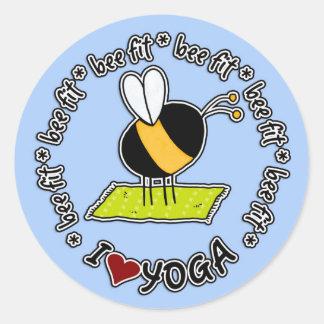 abeja cabida - pegatina de la yoga