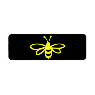 Abeja (citrina) etiqueta de remite