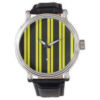 Abeja coloreada relojes de pulsera