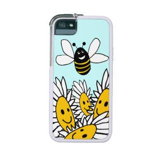 abeja con el caso sonriente del iPhone 5 de las ma
