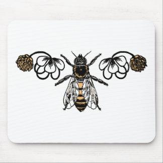 abeja con el trébol tapetes de ratones