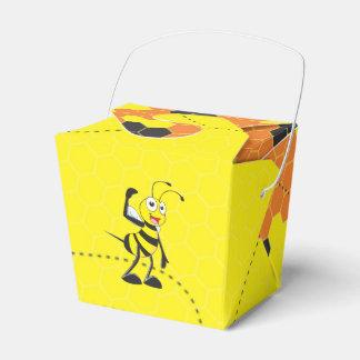 Abeja de arrastre sonriente feliz amarilla linda cajas para detalles de boda