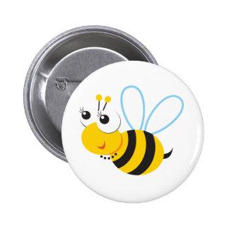 Abeja de Betty de los animales de ABC Pin Redondo 5 Cm