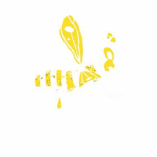 Abeja de doblez totalmente amarilla escultura fotográfica