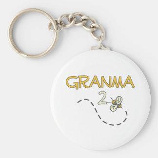 Abeja de Granma 2 Llaveros Personalizados