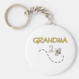 Abeja de la abuela 2 llavero
