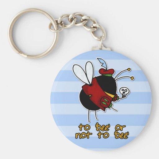 abeja de la aldea llavero redondo tipo pin