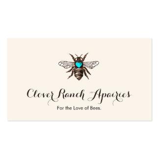 Abeja de la apicultura del abejorro con la tarjetas de visita