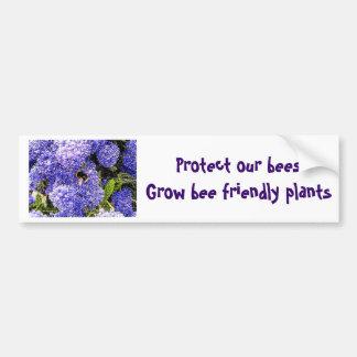 Abeja de la flor de Ceanothus Pegatina Para Coche
