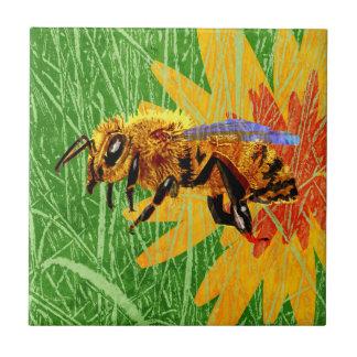 Abeja de la miel azulejo cuadrado pequeño
