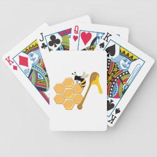 Abeja de la miel barajas de cartas