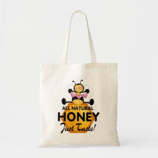 Abeja de la miel bolsa tela barata