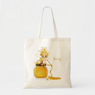 Abeja de la miel bolsas de mano